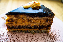 Dessert chocolate cake with nuts cocoa Royalty Free Stock Photography