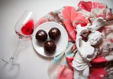 Dessert of chocolate candies Stock Photos