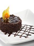 Dessert - Chocolate Iced Cake Stock Images