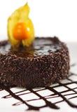 Dessert - Chocolate Iced Cake Stock Photo