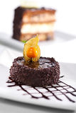 Dessert - Chocolate Iced Cake Royalty Free Stock Photography