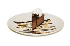 Dessert - Chocolate Mousse Cheesecake. Chocolate mousse cheesecake royalty free stock photos