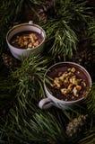 Dessert chocolate pudding Stock Images