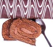 Dessert, chocolate roll Stock Photography