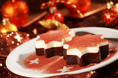 Dessert for Christmas Stock Photos