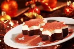 Dessert for Christmas stock photos
