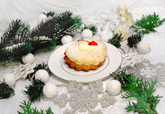 Dessert for Christmas Royalty Free Stock Photo