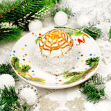 Dessert for Christmas Royalty Free Stock Photography
