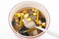 Dessert cinese, fagioli assortiti in sciroppo del Longan Immagine Stock Libera da Diritti