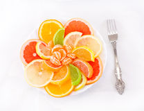 Dessert of citrus and marmalade Royalty Free Stock Photos