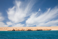 Dessert coastline on the Red Sea Stock Photo