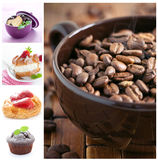 Dessert and coffee Stock Photos