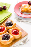 Dessert for Coffee Background / Dessert for Coffee / Fruit Pastry Dessert for Coffee Background Royalty Free Stock Photo