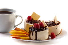 Dessert with coffee Royalty Free Stock Images