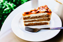 Dessert is coffee cake royalty free stock photography