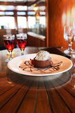 Dessert and Cognac Royalty Free Stock Photography