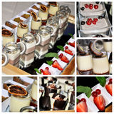 Dessert collage stock photography