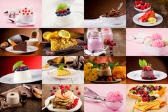 Free Dessert Collage Royalty Free Stock Images - 24214039