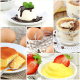 Dessert collage royalty free stock photos