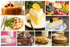Dessert collage Stock Photo