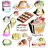 Dessert collection Stock Photography
