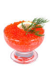 Crystal bowl with caviar appetizer Stock Photography
