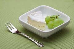 Dessert con formaggio e l'uva Immagini Stock Libere da Diritti
