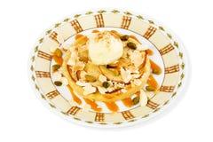 Dessert con gelato Fotografie Stock Libere da Diritti
