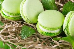 Dessert con gusto di verde della menta gentile come fondo fotografia stock