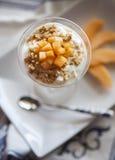 Dessert con il melone Fotografie Stock