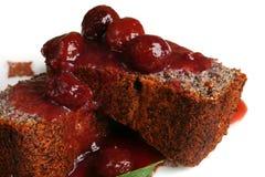 Dessert con la ciliegia Fotografia Stock Libera da Diritti