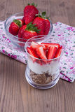 Dessert con la fragola Immagine Stock Libera da Diritti