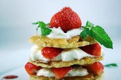 Dessert con la fragola Fotografie Stock Libere da Diritti
