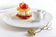 Dessert con le fragole Fotografia Stock