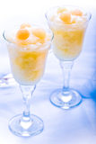 Dessert congelato di rinfresco del melone Immagine Stock