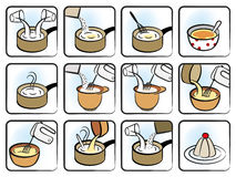 Dessert Cooking Icons Royalty Free Stock Photo