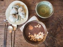 Dessert coreani messi Fotografia Stock