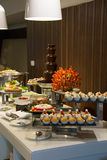 Dessert corner at a buffet restaurant Stock Photography