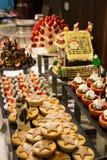 Dessert corner at a buffet restaurant Stock Image
