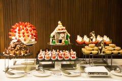 Dessert corner at a buffet restaurant Stock Photography