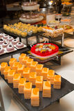 Dessert corner at a buffet restaurant Royalty Free Stock Photo