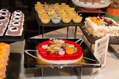 Dessert corner at a buffet restaurant Royalty Free Stock Photo