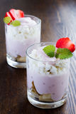 Dessert from cottage cheese and fruits Royalty Free Stock Photography