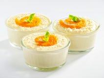 Dessert crémeux de tahini Image libre de droits