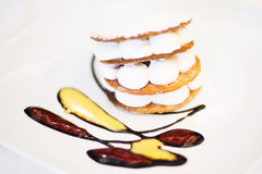 Dessert with cream and biscuit Royalty Free Stock Image