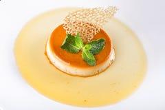 Dessert cream brulee Royalty Free Stock Image