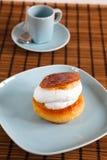 Dessert with cream Royalty Free Stock Image