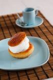 Dessert with cream Stock Image