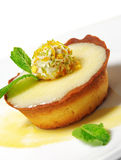 Dessert - Cream Tart Royalty Free Stock Photography