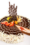 Dessert creamy cake with fresh strawberries sweet Stock Photography